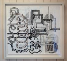 Soundscape III, framed.